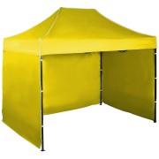 Rýchlorozkladací nožnicový stan 2x3m - oceľový, Žltá, 3 bočné plachty