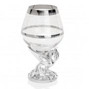 Set 6 pahare cristal si argint Phoenix
