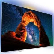 Телевизор Philips 65 инча OLED 4K UHD LED Android TV, Ambilight 3, 4500 PPI, Сребрист, 65OLED803/12