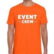 Bellatio Decorations Personeel t-shirt oranje met event crew bedrukking voor heren