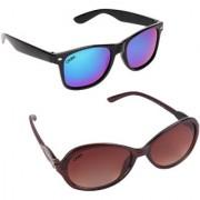 Aligatorr Combo Of 2 Cat Eye Wayfarer Unisex Sunglasses ldy bnrkc merCRLK
