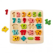 Odyssey Toys Hape Chunky Number Puzzle Game (10 Piece), Multicolor, 5'' x 2''