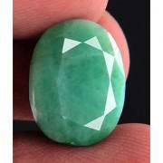 8.52 Ct Certified Light Green Oval Mixed Cut Emerald Gemstone
