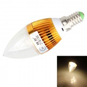 ZIQIAO JP1003 3W Blanco caliente de alta potencia LED luz de la vela (AC 85 ~ 265V)