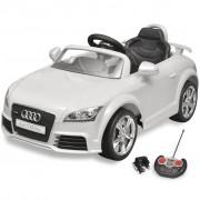 Audi TT RS детска кола с дистанционно управление, бяла
