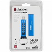 Kingston 64GB Keypad USB 3.0 DT2000/ 256bit AES Hardware Encrypted, EAN: 740617248043 DT2000/64GB