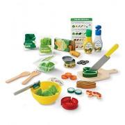 Melissa & Doug 19310 Slice and Toss Salad Play Food Set – 52 Wooden Felt Pieces