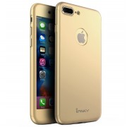 Husa iPaky 360 folie sticla iPhone 8 Plus Gold