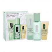 Clinique 3-Step Skin Care 1 darovni set vodica za čišćenje Clarifying Lotion 1 100 ml + sapun Liquid Facial Soap Extra Mild 50 ml + hidratantni proizvod DDML 30 ml