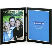 Pinnacle Double Thin Black Frame with Silver Lip, 5 inch by 7 inch