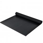 [pro.tec]® Alfombra acanalada de goma antideslizante 3mm Negro Protección contra arañazos Interior/Exterior 5 x 1m Goma