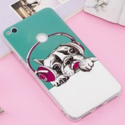 Huawei P8 Lite (2017) / P9 Lite (2017) Noctilucent IMD Dog Pattern Soft TPU Back Case Protector Cover
