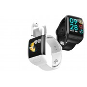 Guantaoxian Chuangyi Trade Co.,Ltd T/A CnDirectBiz £39 instead of £107 for a two-in-one smart watch with wireless earphones from CN Direct Biz - save 65%