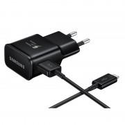 Зарядно за Samsung телефони - захранване (2.1A) за бързо зареждане (Fast Charger) (EP-TA20EBE) и USB-C кабел (черно)