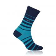 Férfi zokni Willsoor 6963 sötét kék szín csíkos