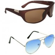 IDUCO Sports, Aviator Sunglasses(Brown, Blue)