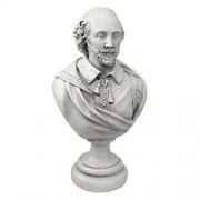Design Toscano William Shakespeare Desktop Sculptural Bust in Antique Stone