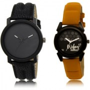 The Shopoholic Black Combo Fashionable Funky Look Black Dial Analog Watch For Boys And Girls Watches Men Stylish