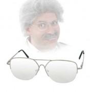 Geen Ouderwetse bril met transparante glazen