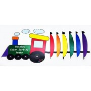 Rainbow Color Match Train Choo Choo by Skoolzy - Matching Sorting & Counting Manipulative Accessory for Toddlers...