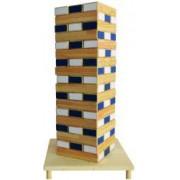 Joc Mega Turn Jenga Instabil din lemn 54 de piese multicolor inaltime 48.6 cm