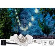 Solar-LED-Lichterkette im Glühbirnen-Look, 12 Birnen, warmweiss, 8,5 m | Solar Lichterkette
