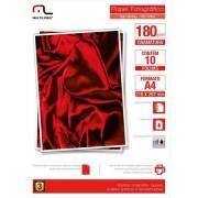 Multilaser Papel Multilaser Fotográfico Glossy A4 180G/M2 10Fls - PE030 PE030