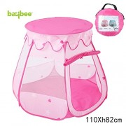 BAYBEE Ball Pit Play Tent -Pops Comes with Convenient Carry Bag for Easy Travel and Storage up No Assembly Required (Balls Not Included), (Pink)