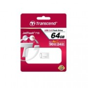 64GB USB Flash Drive, Transcend JetFlash 710, USB 3.0, сребриста