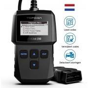 Topdon® Nederlandstalige OBD2 Scanner - Motorstoring - Auto Diagnose - OBDII - Zwart