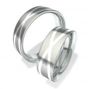 Luxusní Ocelové snubní prsteny 702003