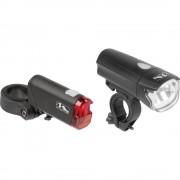 Komplet svjetla za bicikl M-Wave ATLAS K50 LED Crna