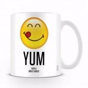 123 Kado koffiemokken Melkbeker Yum emoticon