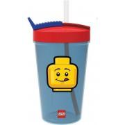 LEGO Iconic Drinkbeker Classic 500 ml - Met Rietje - Blauw