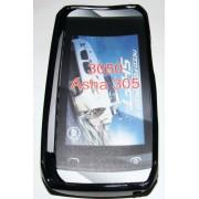 Силиконов гръб ТПУ за Nokia Asha 305 Черен