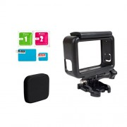 ELECTROPRIME 3in1 Camera Protective Parts w/Frame Mount+Lens Cap Cover+Screen Protector