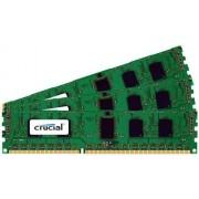 Crucial Technology CT3CP25672BB1067S Juego de Memoria DDR3 (6 GB (2 GBx3), 240 Pines, DIMM, PC3-8500 CL=7, ECC, DDR3-1066, 1,5 V, 256 MB x 72 memorias)