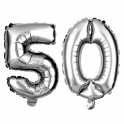 Birthday Party 50 Number Foil Balloon ( Silver Colour )