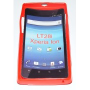 Силиконов гръб ТПУ за Sony Xperia ion LT28i Червен
