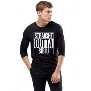 Bluza barbati neagra - Straight Outta Sibiu