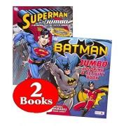 Dc Comics Batman & Superman Coloring And Activity Book Set (Two 96 Page Books)