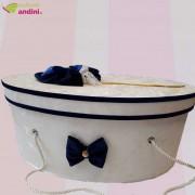 Cutie Trusou Botez Royal Blue Elegance