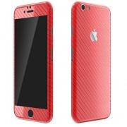 Apple iPhone 6 Plus / 6s Plus FoliaTa Skin Kit Carbon Fata / Spate, Red