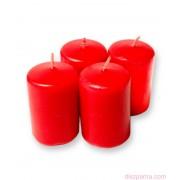 Piros ADVENTI gyertya 4 db 4x6 cm