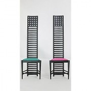 reina Design Interior Collection 1/12 Designers Chairs Vol 4 No. 1 HILLHOUSE CHAIR 1 Pair Black Color