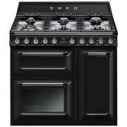 SMEG Tr93bl Cucina 90x60 6 Fuochi A Gas Doppio Forno 123 Litri Classi A E B Colo