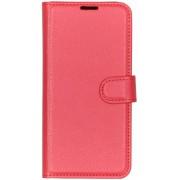 Basic Litchi Booktype hoesje voor de Huawei P30 Lite - Rood