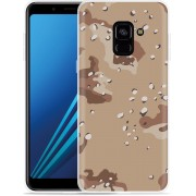 Samsung Galaxy A8 Plus 2018 Hoesje Army Desert Camouflage