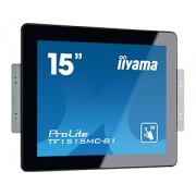 iiyama 15' LCD Projective Capacitive Bezel Free 10-Points Touch Screen, 1024 x 768, TN panel, LED Bl., Flat Bezelfree Glass Front, DisplayPort, HDMI, VGA, 300 cd/m² (with touch)