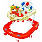 NewAge Panda Monkey Baby Walker - Music Light Function with Adjustable Height (Red)